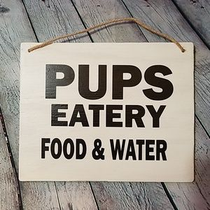 Pups Eatery Sign